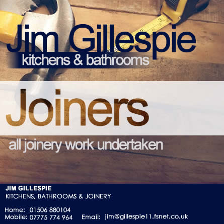 Jim Gillespie Kitchens & Bathrooms | All Joinery Works undertaken | Local Buisness | Friendly Service and advice