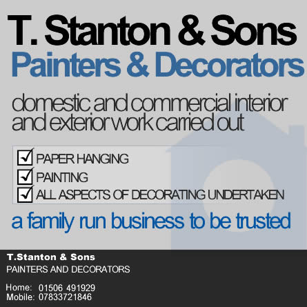 T Stanton and Sons | Painters and Decorators | Local Family Run Business